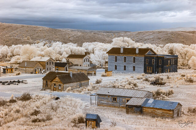 infrared bannack ghost town in Montana