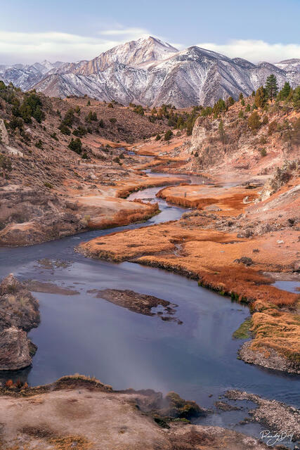 sunrise at Brees overlook in mammoth lakes, California