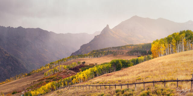 stormy weather over the San Juan mountain near Telluride colorado.