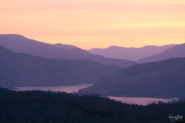sunset over the Columbia Gorge