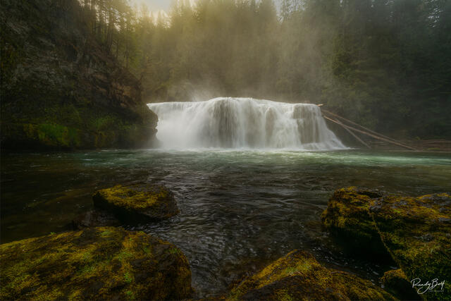 Lewis River Falls in the spring time