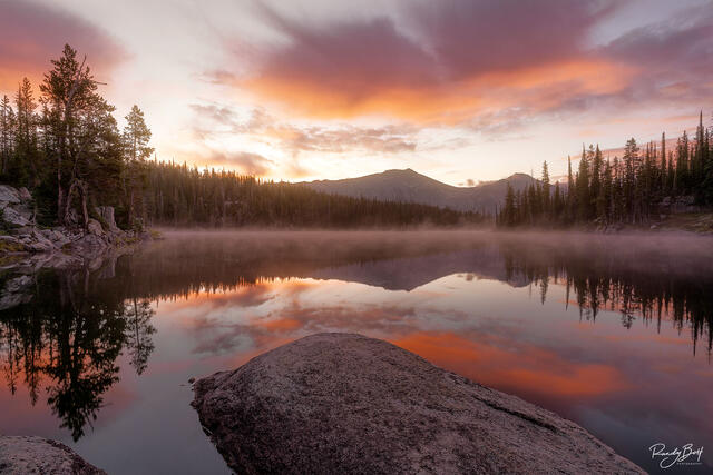 Sunrise with Polaris pass in the background in the Eagle Cap Wilderness.