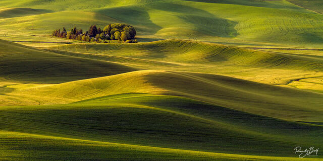 panorama view from step toe butte in the Palouse