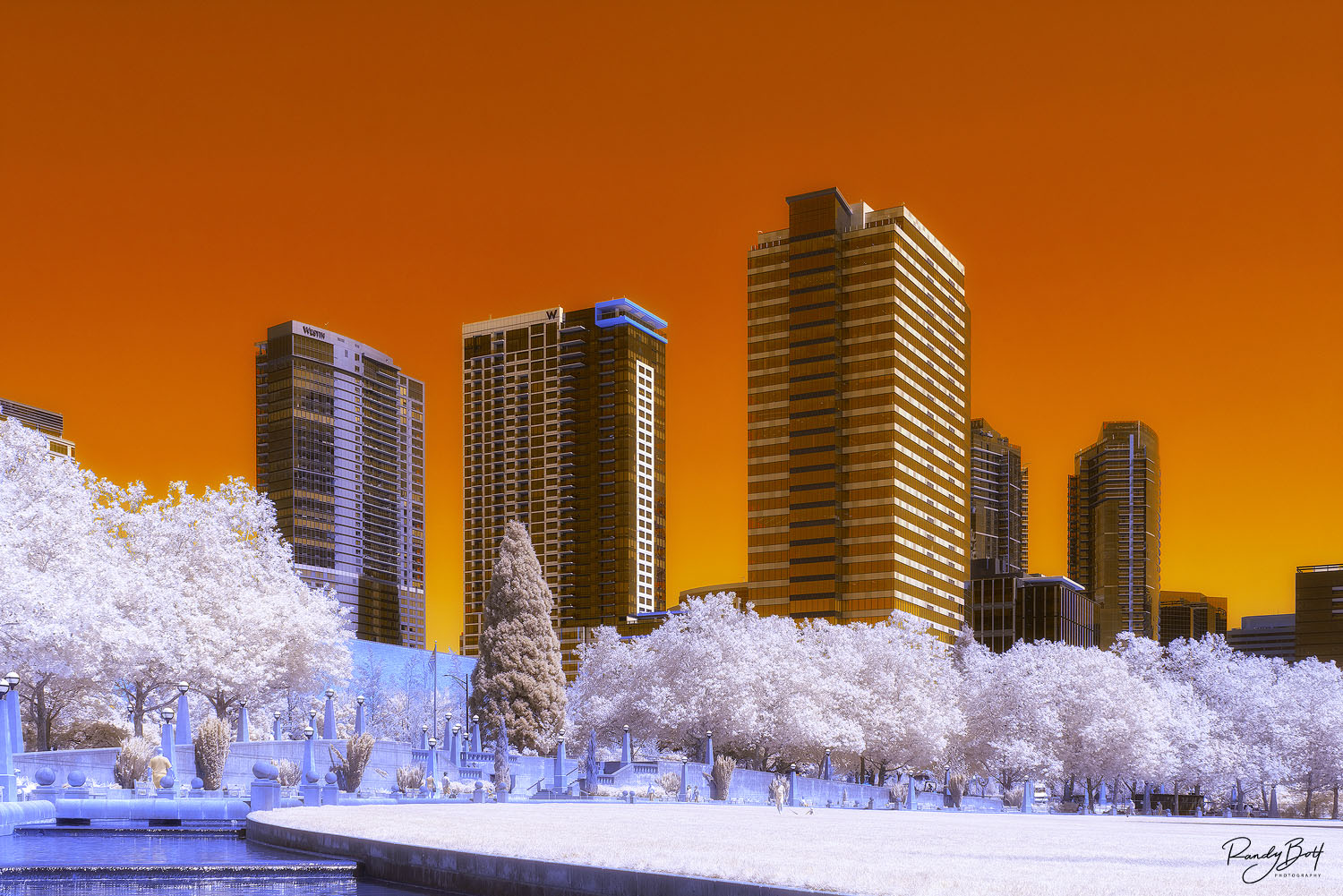 super color infrared of downtown bellevue, Washington