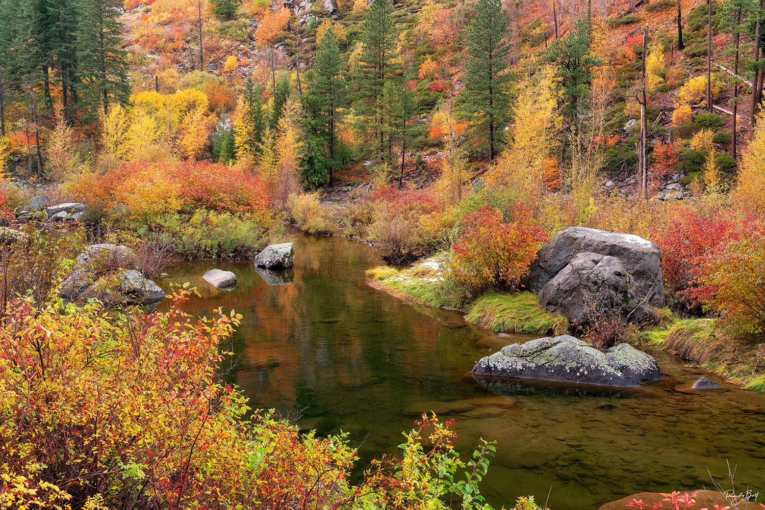 fall color in the Tumwater Canyon