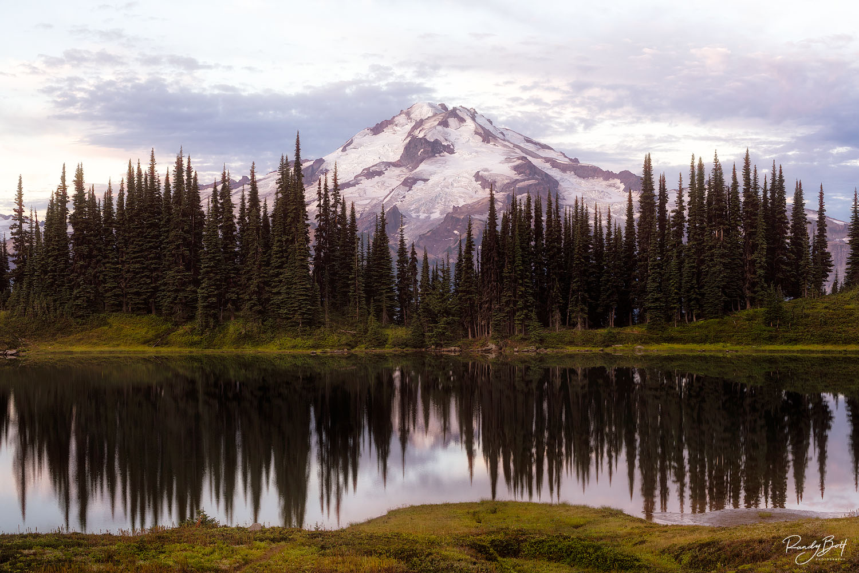 sunrise from image lake with glacier peak.