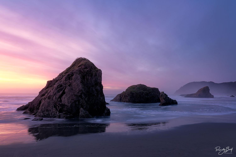 sunset at Myers beach on the Oregon Coast